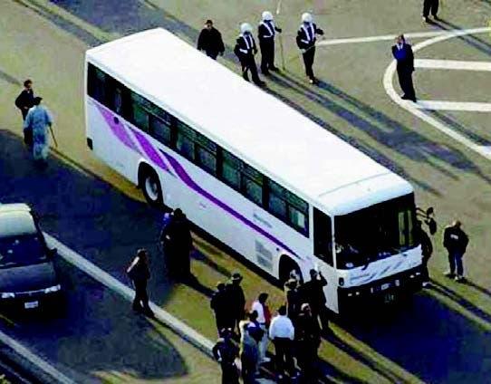 "Secuestra bus ""para ir a visitar a sus padres"""