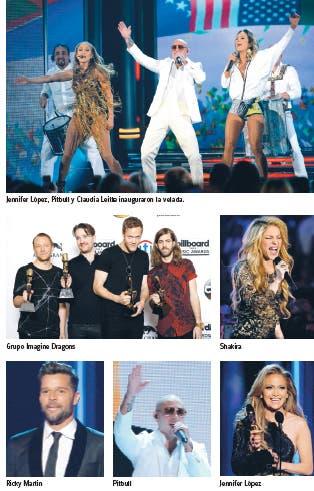 Celebran premios Billboard con mucho sabor latino
