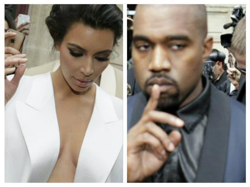 El rapero norteamericano Kanye West y la estrella de la telerrealidad Kim Kardashian