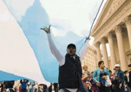 Opositores Argentina marchan