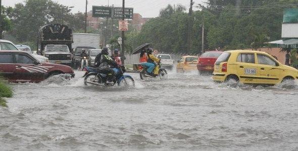 Lluvias en Santiago