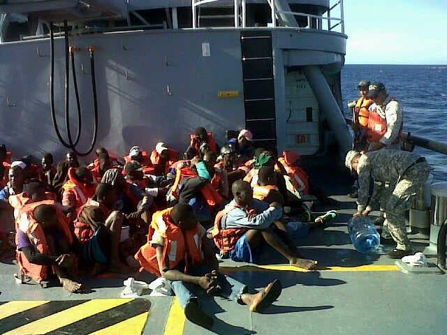95 haitianos se iban en yola a Puerto Rico.