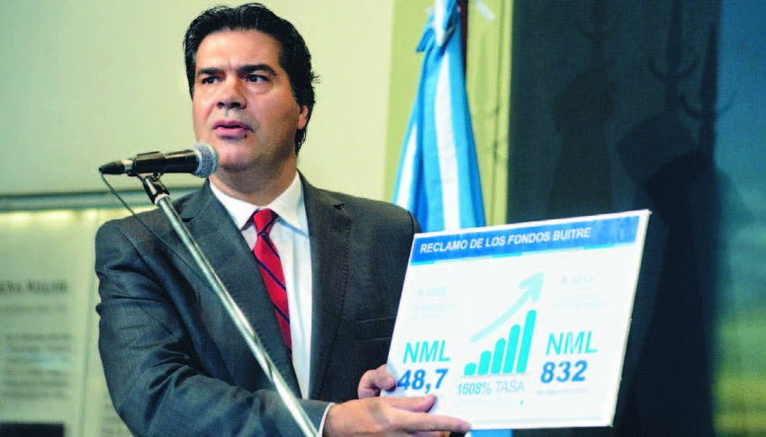 Jorge Capitanich, jefe de gabinete de ministerios, explica sobre los fondos buitre