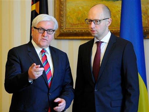 Frank-Walter Steinmeier, Arseniy Yatsenyuk
