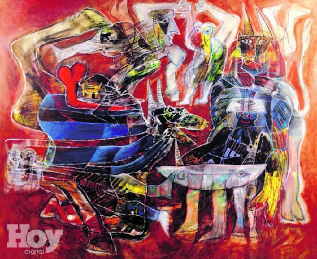 Obra de Ramón Oviedo, de la colección de Fernando Báez Guerrero
