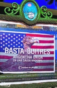 """Poster contra los """"fondos buitre"""""""