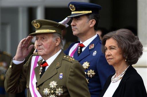 King Juan Carlos, Queen Sofia, Crown Prince Felipe