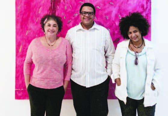 Rosalba Hernández, Alescar Ortiz e Iris Pérez