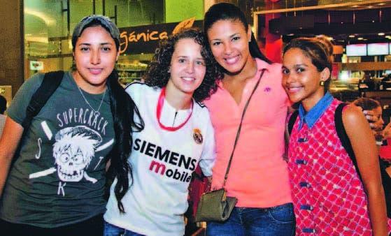 Rosita Gasga, Noemí Gómez, Anyelina Alvarez y Darling Liranzo