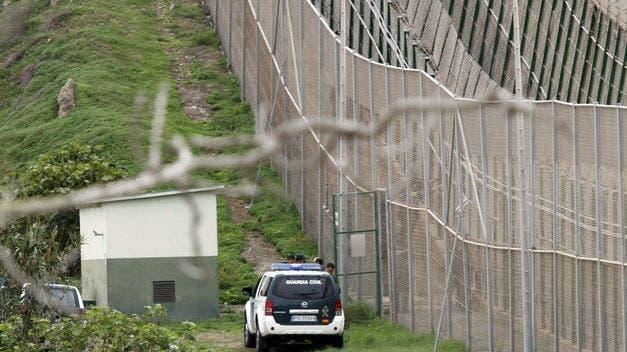 Valla fronteriza de Melilla