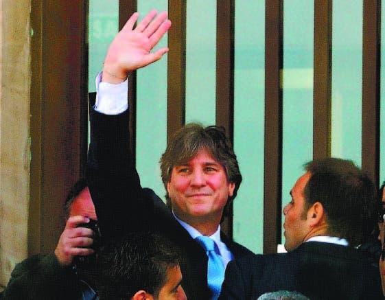 Vicepresidente argentino Amado Boudou en su llegada a la corte