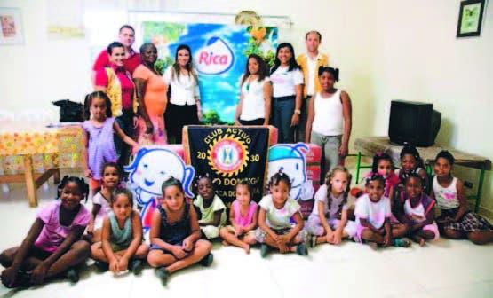 arte de los niños de los hogares beneficiados con la donacíón
