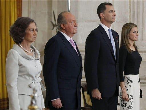 King Juan Carlos,  Prince Felipe, Queen Sofia, Princess Letizia