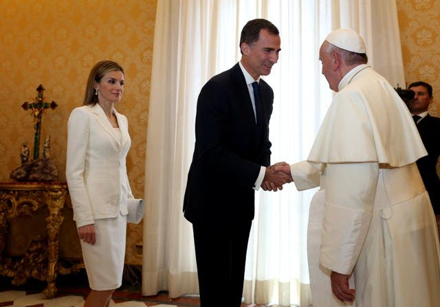 VATICAN-POPE-SPAIN-ROYALS