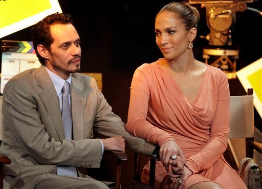 Jennifer López y Marc Anthony. Archivo.