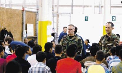 Los menores pasan  por largos meses de detención  en centros desbordados antes de su deportación.  AP