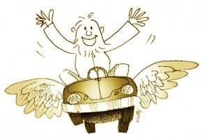 """¡Mi carro volador!"""