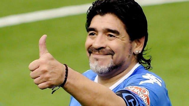El astro del fútbol argentino Diego Maradona.  Fuente externa.