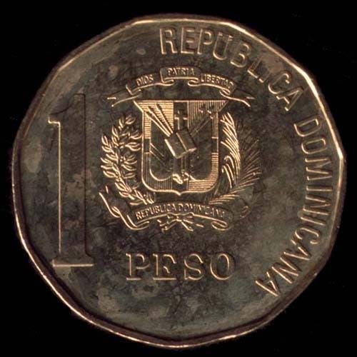 Este es  peso dominicano que circulaba.