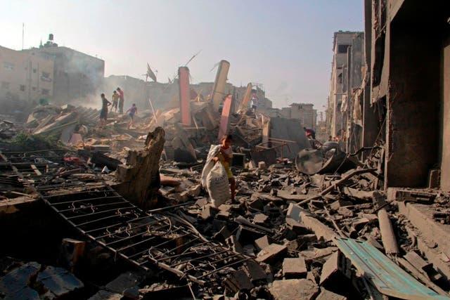Destrucción sin precedentes en Gaza por la ofensiva israelí, según la ONU