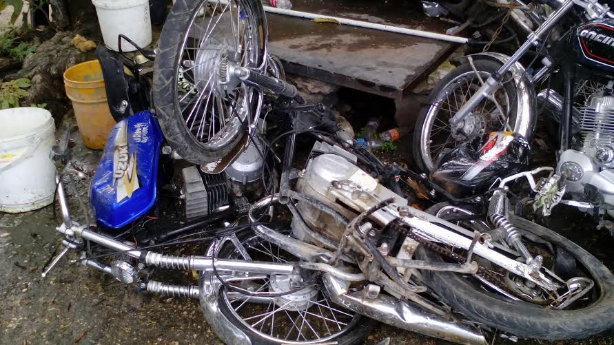 Imagen de referencia de un accidente de motocicletas.