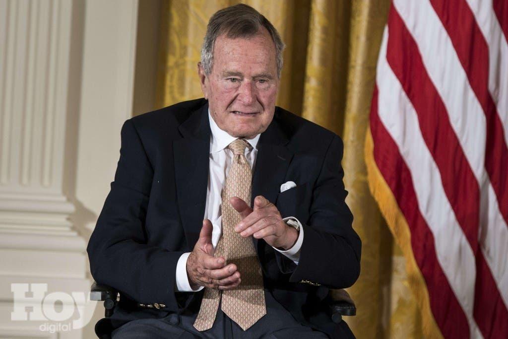 Former US president George H. W. Bush, 90, in hospital