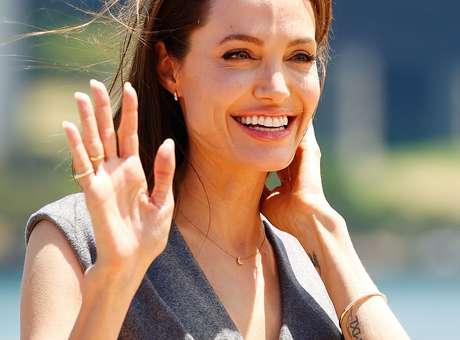 Angelina Jolie visitó hoy el campamento de Azraq, en Jordania