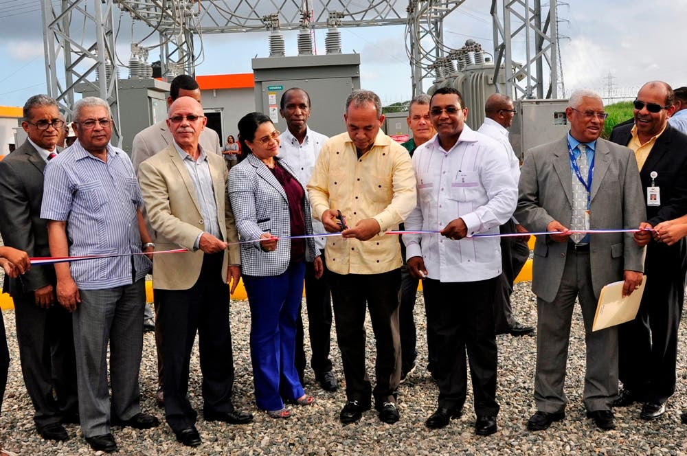 Inauguran subestación circuito 24 horas en Yaguate