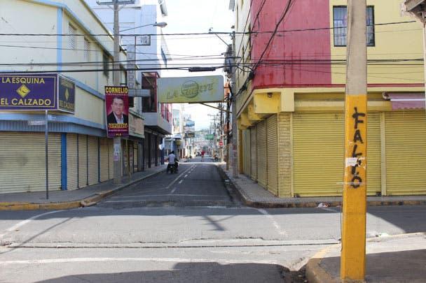Paro San Francisco de Macorís. Foto de archivo.