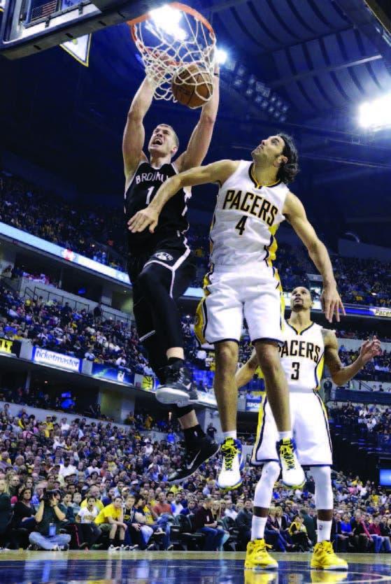 Los Nets aplastan a  los Pacers  en la NBA