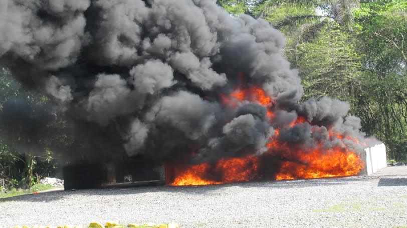 Incineran drogas decomisadas en AILA y Puerto Multimodal Caucedo