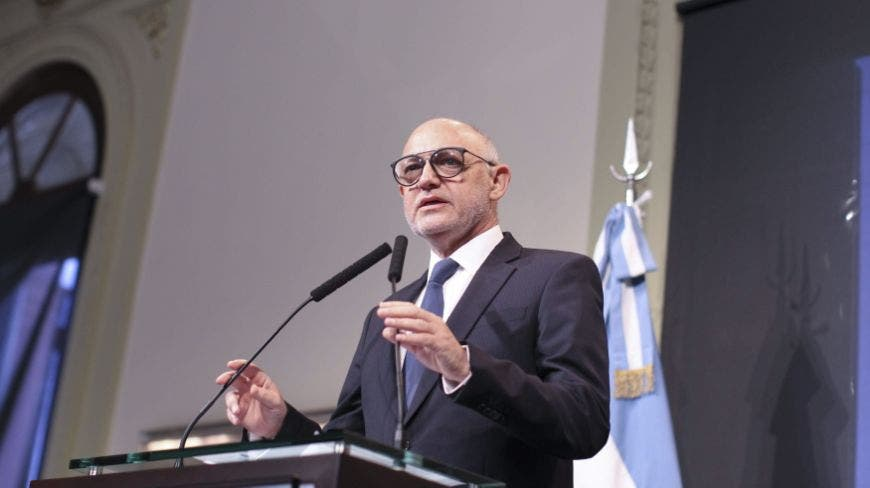 Argentinian Foreign Affairs Minister Hector Timerman addreses a press conference at the Casa Rosada presidential palace in Buenos Aires, Argentina, 15 January 2015. Timerman accused Argentina's attorney Alberto Nisman of 'lying' and of having been guided in his investigation by the interests of the Argentinian intelligence services, instead of trying to advance and clarify the responsibilities of the attack against the AMIA Jewish center that left 85 dead and 300 wounded on 18 July 1994. Nisman denounced Argentina's President Cristina Fernandez and Timerman on 14 January for the crime of 'aggravated concealment and breach of duty of a public official'. EFE/David Fernandez