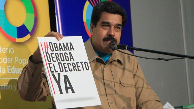 Venezuela recoge más del millón de firmas para pedir a Obama derogar decreto
