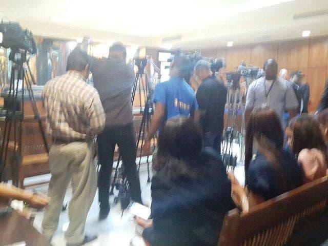 La prensa está organizada en la audiencia del caso Félix Bautista.