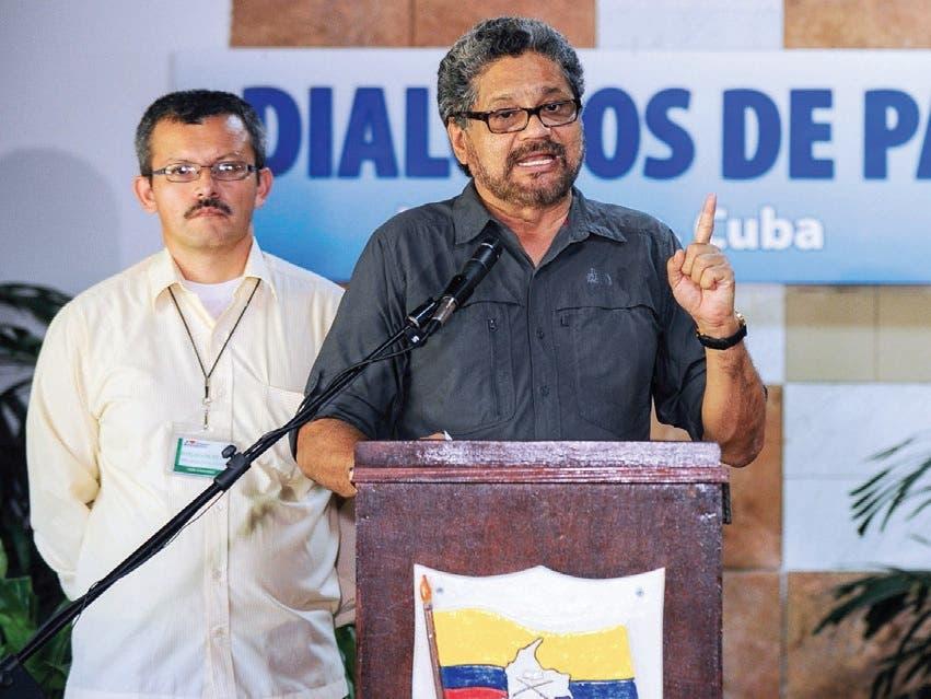 Jefe negociador de las FARC, Iván Márquez. Foto de archivo