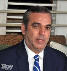 Luis Abinader, candidato presidencial del Partido Revolucionario Moderno (PRM), archivo