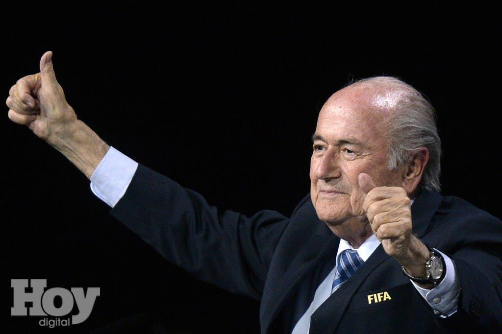 Sepp Blatter fue reelegido hoy en la presidencia de la FIFA, archivo
