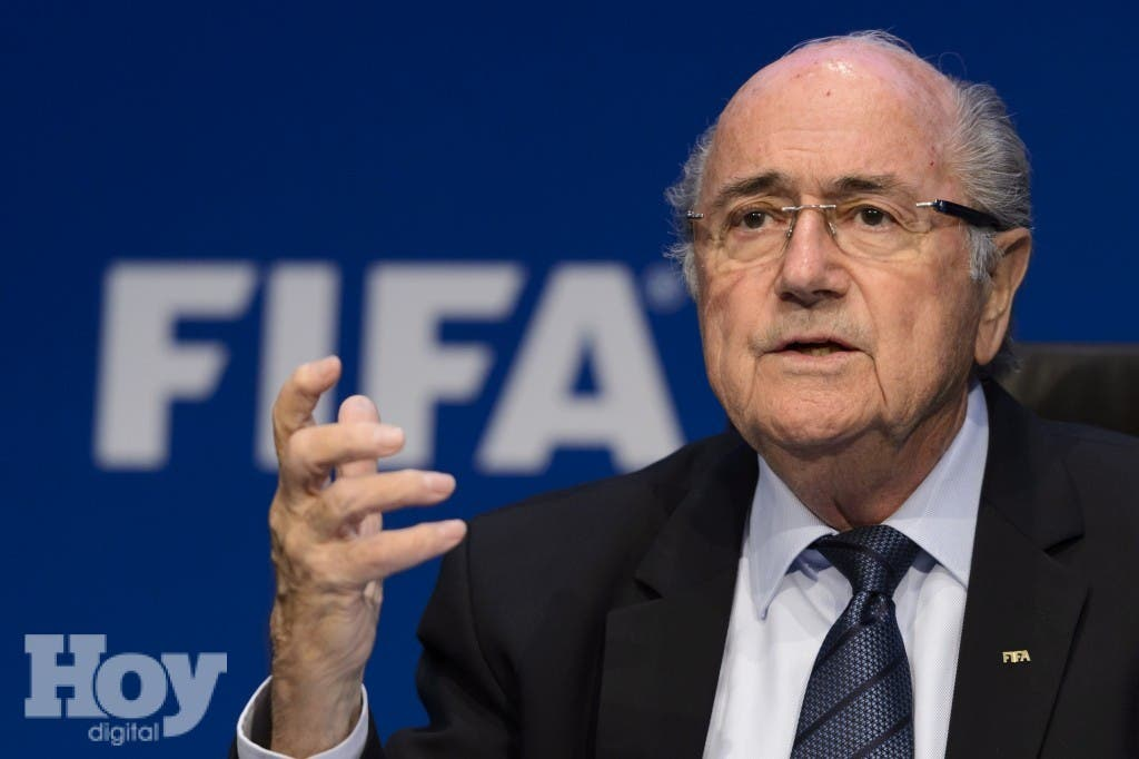 Sepp Blatter. AFP PHOTO / FABRICE COFFRINI.