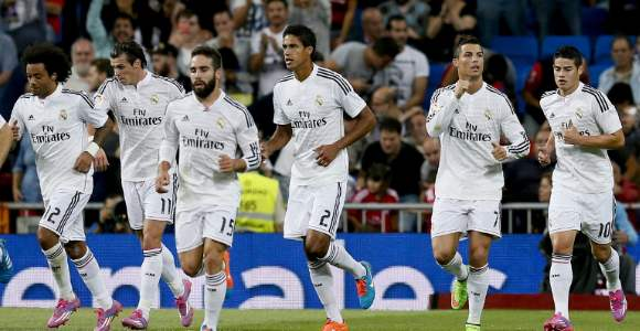 Jugadores del Real Madrid. EFE.