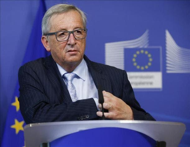 Agencia EFE. El presidente de la Comisión Europea, Jean-Claude Juncker, el pasado miércoles durante una rueda de prensa en la sede de la Comisión en Bruselas (Bélgica). EFE.