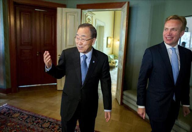 El secretario general de la ONU, Ban Ki-moon a) archivo