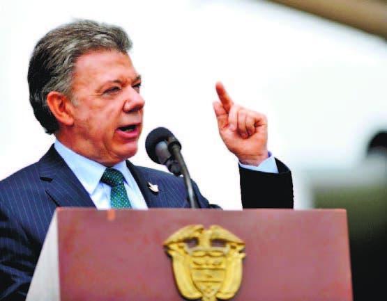 Juan Manuel Santos, Presidente de Colombia  AFP