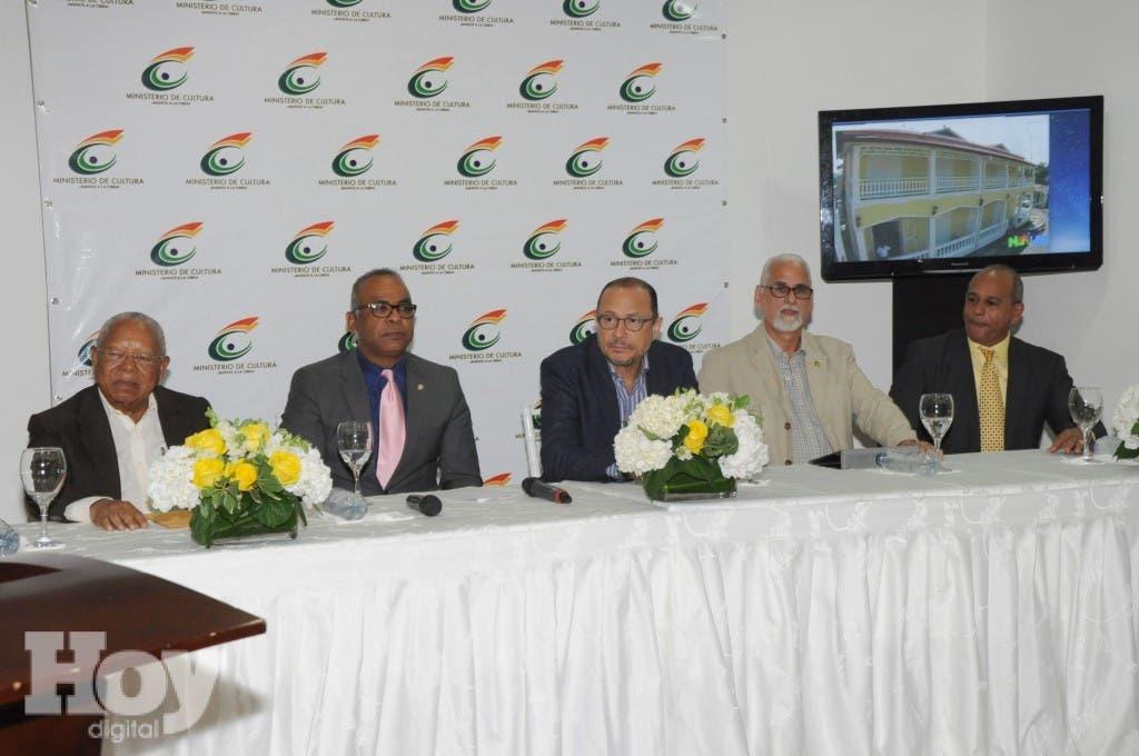 Las declaraciones fueron ofrecidas durante una rueda de prensa celebrada en la sala Ramón Oviedo, sede del Ministerio de Cultura. Fuente externa.