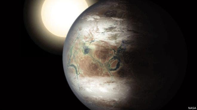 El Kepler-452b tiene un tamaño similar a la Tierra. BBC Mundo.