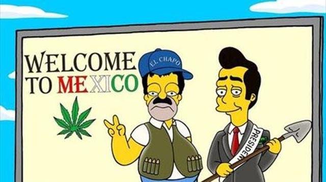 El Chapo Guzmán llegó a Los Simpson