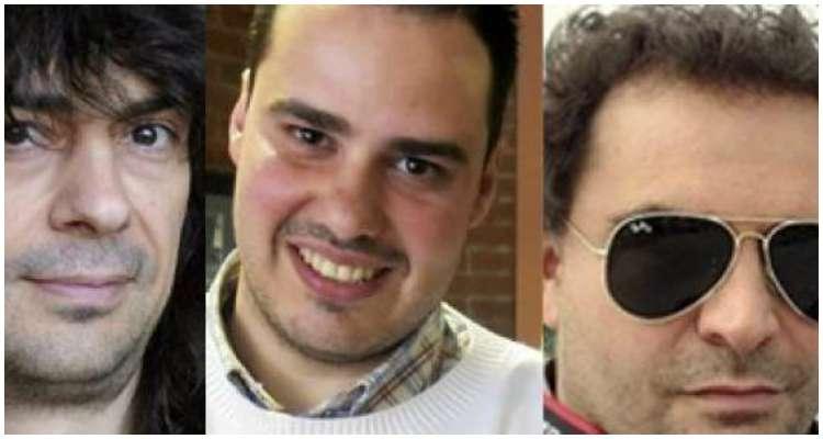 Antonio Pampliega, nacido en 1982, José Manuel López, nacido en 1971, y Ángel Sastre, periodistas desaparecidos, fuente externa