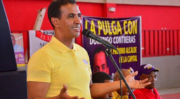 El aspirante a alcalde de la capital por el Partido de la Liberación Dominicana, Domingo Contreras. Fuente externa