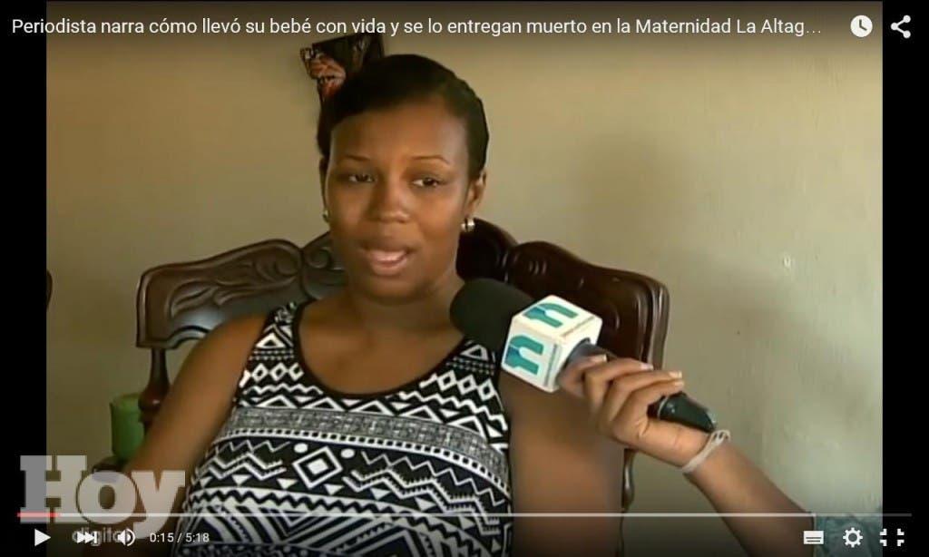 Lidia Mora, periodista de El Nacional, dio a luz en la Maternidad La Altagracia, fuente externa