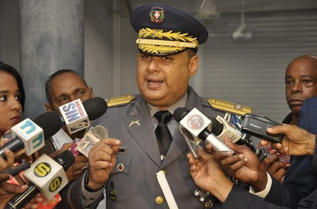 El vocero de la Policía Nacional, general Máximo Báez Aybar. Foto/Pablo Matos