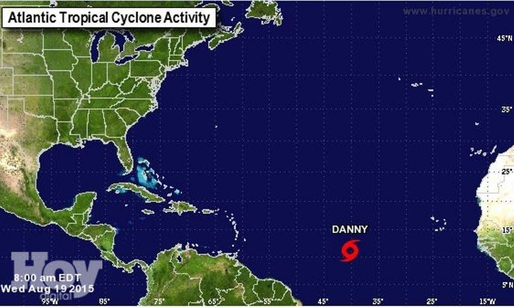 La tormenta tropical Erika, la quinta de la temporada de huracanes en la cuenca atlántica, amenaza las islas de Sotavento